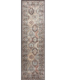 "CLOSEOUT! 3802/0013/BROWN Gerola Brown 2'2"" x 7'7"" Runner Rug"