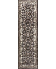 "CLOSEOUT! 3810/0013/BROWN Gerola Brown 2'2"" x 7'7"" Runner Rug"