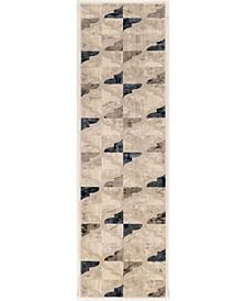 "CLOSEOUT! 3793/1003/BONE Imperia Ivory/ Cream 2'2"" x 7'7"" Runner Rug"