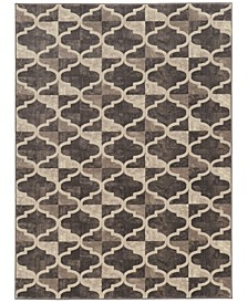 "CLOSEOUT! 3793/1012/BROWN Imperia Brown 7'10"" x 10'6"" Area Rug"