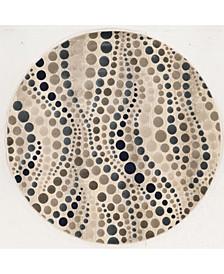 """CLOSEOUT! 3795/1004/BONE Imperia Ivory/ Cream 5'3"""" x 5'3"""" Round Area Rug"""