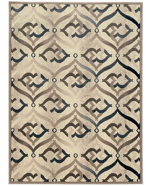 "KM Home CLOSEOUT! 3796/1002/BONE Imperia Ivory/ Cream 7'10"" x 10'6"" Area Rug"