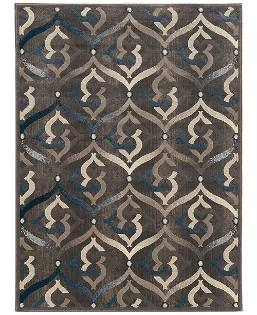 "KM Home CLOSEOUT! 3796/1011/BROWN Imperia Brown 5'3"" x 7'3"" Area Rug"