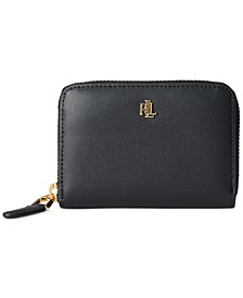 Smooth Leather Zip Wallet