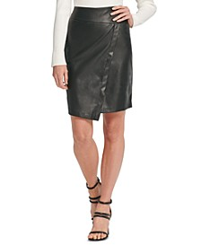 Faux-Leather Skirt
