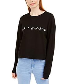 Juniors' Cotton Friends Waffle-Knit Graphic Top