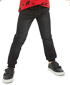 Knit Denim Jogger Pants, Little Boys, Created for Macy's