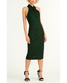 RACHEL Rachel Roy Sleeveless Printed Halter Dress