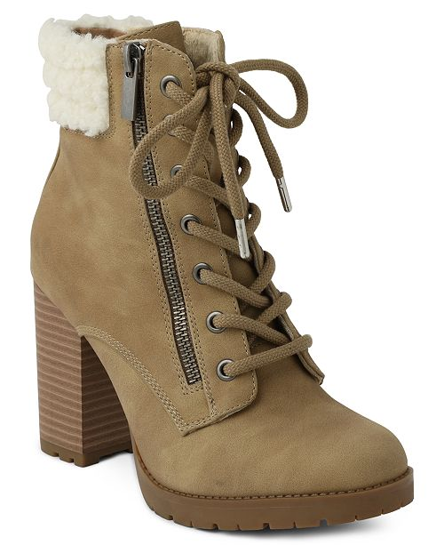 XOXO Jeanna Lace up Booties
