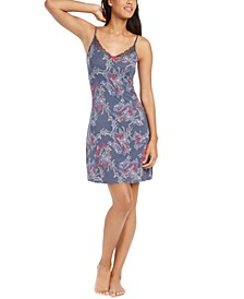 Contrast Printed Chemise Nightgown
