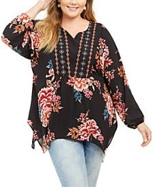 Plus Size Floral Blouse, Created For Macy's