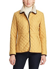 Sherpa-Lined Quilted Jacket
