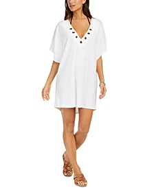 Grommet Tunic Swim Cover-Up