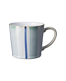 Blue Stripe Painted Large Mug