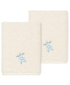 100% Turkish Cotton Ava 2-Pc. Embellished Washcloth Set