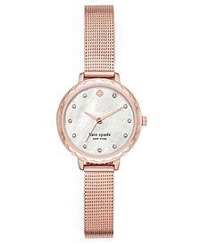 Women's Morningside Midi Rose Gold-Tone Stainless Steel Mesh Bracelet Watch 28mm