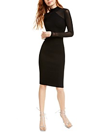 Crave Fame Juniors' Ribbed Bodycon Midi Dress