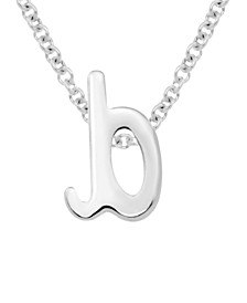Lower Case Initals Pendant in Sterling Silver