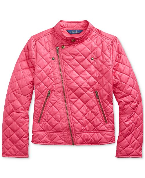 Polo Ralph Lauren Big Girls Quilted Moto Jacket