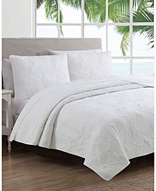 Estate Leaf Stitch 3 Piece King Quilt Set