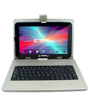 "Linsay 10.1"" New Quad Core 16GB Tablet Android 6.0 Bundle Deluxe with Silver-tone Keyboard"