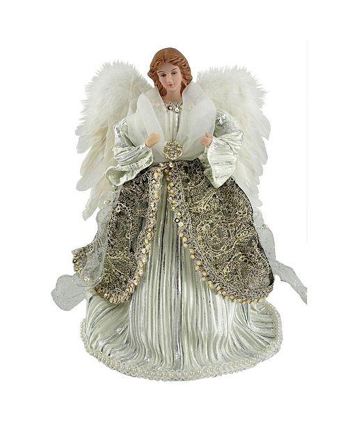 """Santa's Workshop 12"""" Shimmering Angel Tree Topper"""