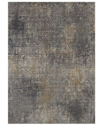 Tryst Botan Anthracite 2'6 x 8' Runner Area Rug