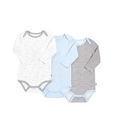 Snugabye Dream Baby Boys Long Sleeve Bodysuit 3 Pack in Giftbox