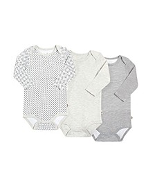 Gertex Dream Baby Boys and Girls Long Sleeve Bodysuit 3 Pack in Giftbox