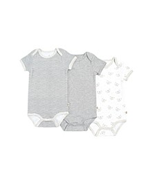Gertex Dream Baby Boys and Girls Short Sleeve Bodysuit 3 pack in Giftbox