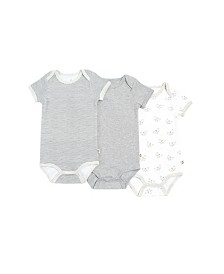 Snugabye Dream Baby Boys and Girls Short Sleeve Bodysuit 3 pack in Giftbox