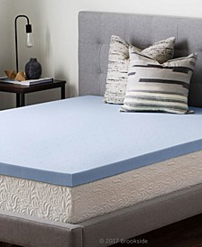 "2.5"" Gel Infused Memory Foam Mattress Topper, Full"