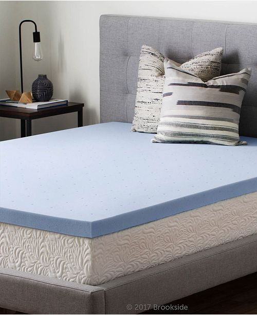 "Brookside 2.5"" Gel Infused Memory Foam Mattress Topper, Full"