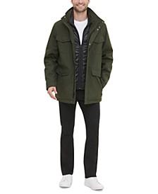 Men's Mélange Textured Utility Jacket