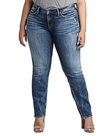Trendy Plus Size Suki Curvy-Fit Slim Jeans