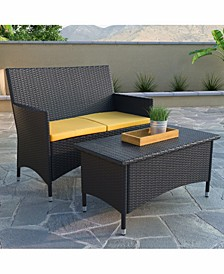Cascade Patio Loveseat and Coffee Table Set