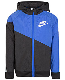 Nike Little Boys Hooded Colorblocked Jacket