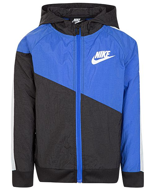 Nike Toddler Boys Hooded Colorblocked Jacket