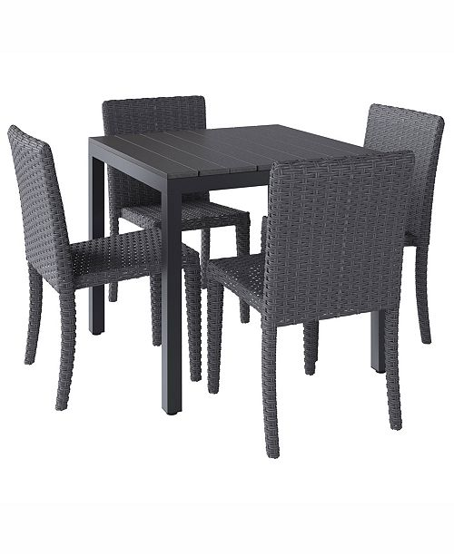 Corliving Distribution Brisbane 5 Piece Outdoor Square Dining Set