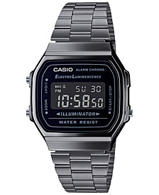 Women's Digital Gunmetal-Tone Stainless Steel Bracelet Watch 36mm