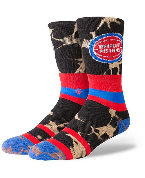 Stance Detroit Pistons Acid Wash Crew Socks