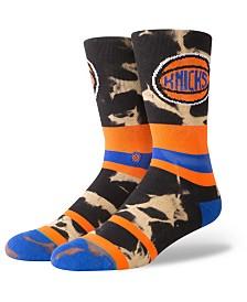 Stance New York Knicks Acid Wash Crew Socks