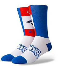 Toronto Blue Jays Pop Fly Crew Socks