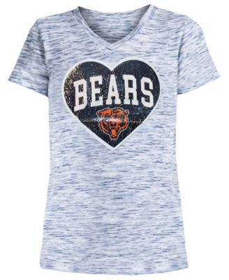 Chicago Bears Heart Flip Sequin T-Shirt
