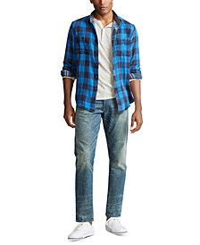 Men's Custom Fit Plaid Twill Button-Down Shirt