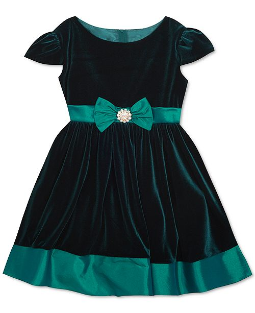 Rare Editions Baby Girls Velvet Dress