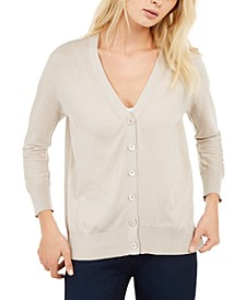 V-Neck Button-Front Cardigan