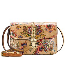 French Tapestry Bianco Leather Crossbody