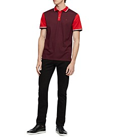Men's Colorblocked Tipped Polo