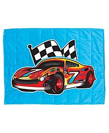 7 Lb. Quilted Plush Pleasure Pedic Race Car Design Weighted Blanket